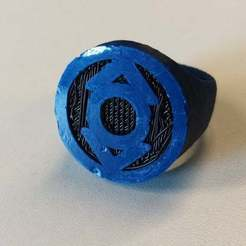 Free 3D printer files Indigo Lantern Ring for Dual Extrusion, niceandeasy