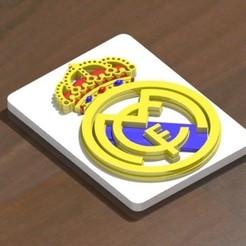 Download STL files Real Madrid shield to print and assemble, nes379
