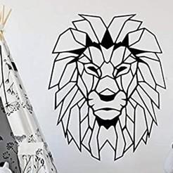 Download STL GEOMETRIC LION, BrianURUY
