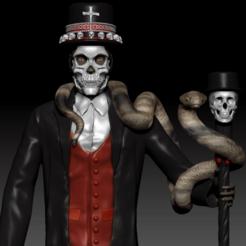 Papalegba 1.png Download STL file Papa Legba  • 3D print design, dsviega