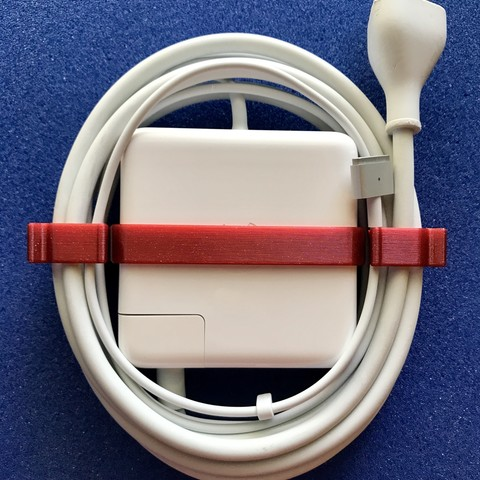 3D print files Apple Macbook 85W Magsafe2 charger wire organizer, clip, bracket., Functional3D