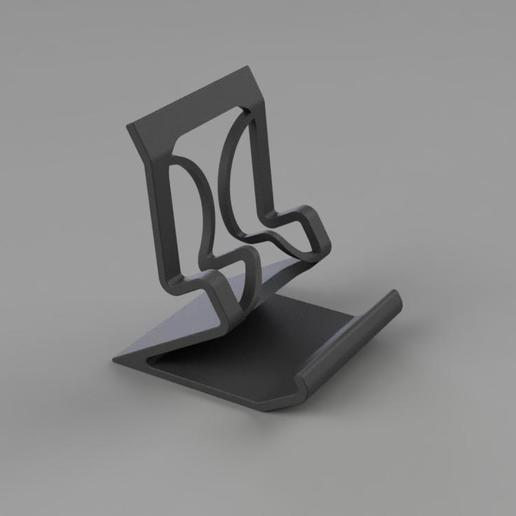 stylephonestand.jpg Download STL file Phone Stand with style • 3D printable template, TimBauer-TB3Dprint