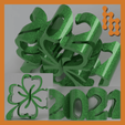 Klee2021_colage.png Download free STL file Shamrock 2021 • 3D printable template, TimBauer-TB3Dprint
