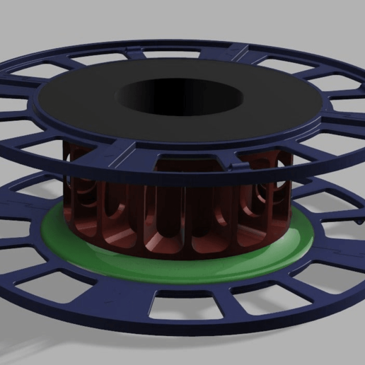 Spool.png Download free STL file TB-Filament-Spool printable on small printbeds • Object to 3D print, TimBauer-TB3Dprint
