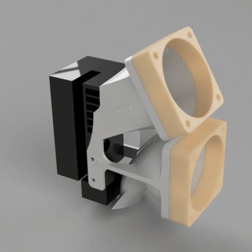 TB-JGaurora-A5-V1a.png Download free STL file JGAurora a5 cooler / fanmount • Model to 3D print, TimBauer-TB3Dprint