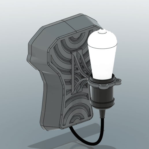 1.png Download STL file Walllamp for E27 • 3D printer template, TimBauer-TB3Dprint