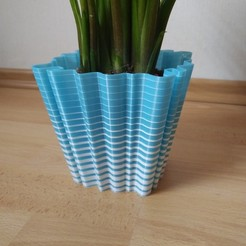 Download free STL file  wavy flowerpot  • 3D print design, TimBauer-TB3Dprint