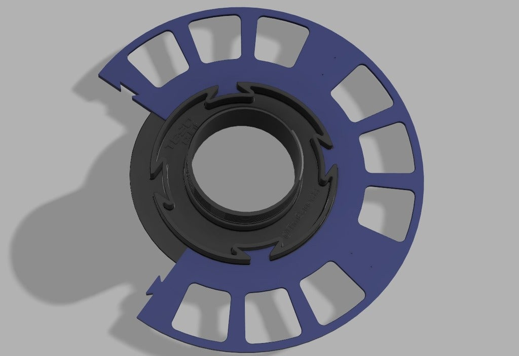 Sool3.png Download free STL file TB-Filament-Spool printable on small printbeds • Object to 3D print, TimBauer-TB3Dprint