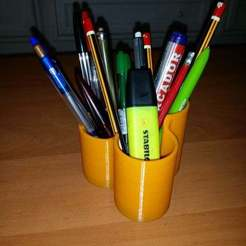 Download free STL file Pen Holder, Justcare