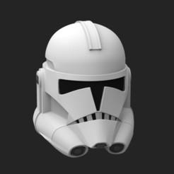 CloneP2V2.121.jpg Télécharger fichier STL Casque de soldat clone TCW Phase 2 - Fichiers d'impression 3D STL • Objet pour impression 3D, FolkyPatrol