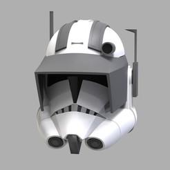 Vaughn-Caméra 10.95.jpg Download STL file Captain Vaughn Helmet TCW - 3D Print Files STL • 3D printable template, FolkyPatrol