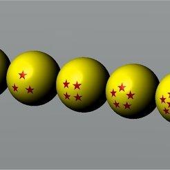 Download free 3D model 4 Star Dragon Ball, elcurioso256