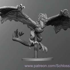 Winged_Wretch.jpg Download free STL file Winged Wretch • Object to 3D print, schlossbauer