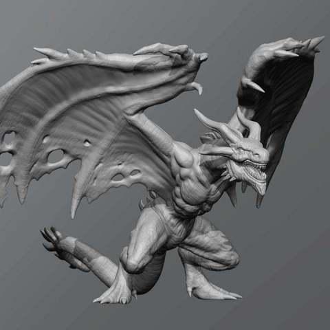 Download free 3D model Flame drake, schlossbauer