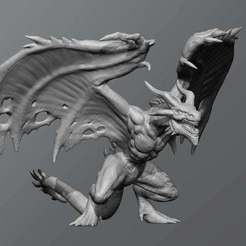 Download free 3D model Flame drake, schlossbauer