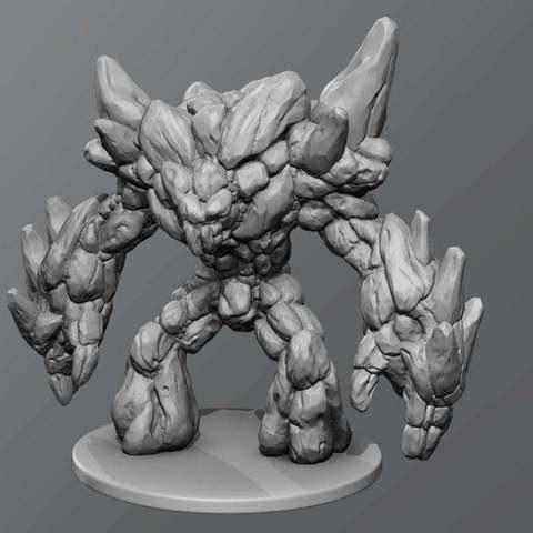 Download free 3D printing designs Earth elemental, schlossbauer
