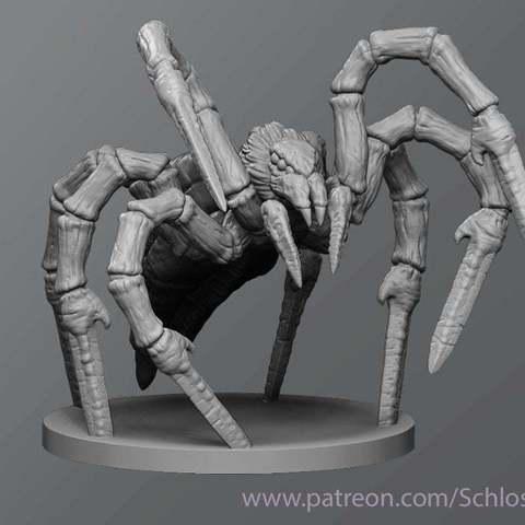 Download free 3D printer model Sword spider, schlossbauer