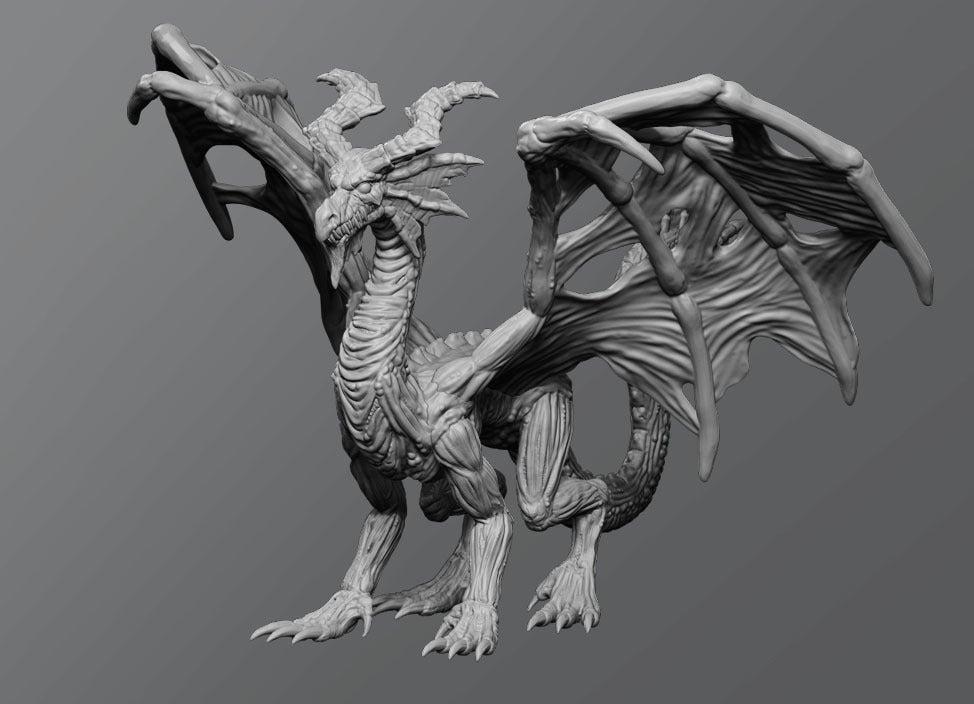 00f60e1e9b8715754d902d0c8cc8b99a_display_large.jpg Download free STL file Undead dragon • 3D print model, schlossbauer