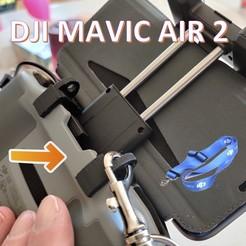 titre.jpg Télécharger fichier STL Support de lanière pour télécommande DJI Mavic Air 2 drone neck strap • Design imprimable en 3D, giacomelli
