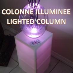 00colonne.jpg Télécharger fichier STL gratuit Meuble colonne illuminée par LED Lichtsäule Lighted column vase Murano • Objet à imprimer en 3D, giacomelli