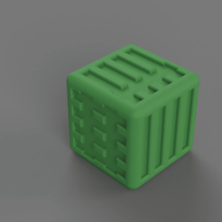 OrkyDice_Green.png Download STL file Dice D6 12mm with orky numberings • 3D printer template, Shwgar