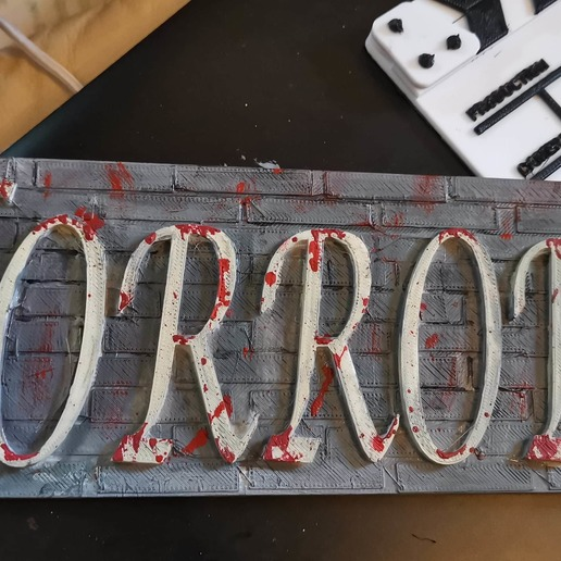 Download free STL file HORROR plaque • 3D printer object, kazclarkson