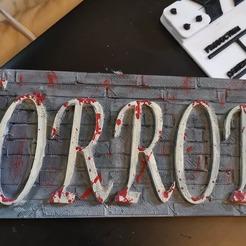 Download free 3D printing models HORROR plaque, kazclarkson