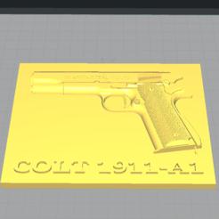 Télécharger STL gratuit Plaque du Colt 1911-A1, captcook