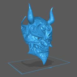 Side Angle.png Download STL file Chinese Style Japanese Oni Mask 3D Model STL for 3D Print Cosplay Costume • 3D print template, VSolo