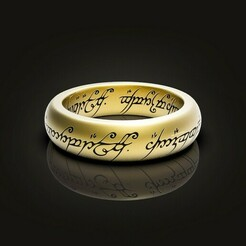 021-1.jpg Download STL file The One Ring. • Design to 3D print, Golden-Snake