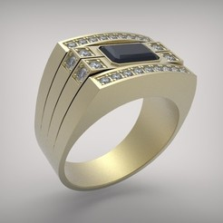 018-1.jpg Télécharger fichier STL Bague pour hommes. • Modèle pour imprimante 3D, Golden-Snake