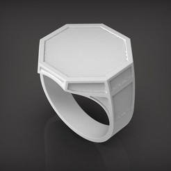 Download 3D printing files Octagonal ring, Golden-Snake