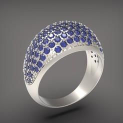 Descargar modelos 3D Un anillo con piedras., Golden-Snake
