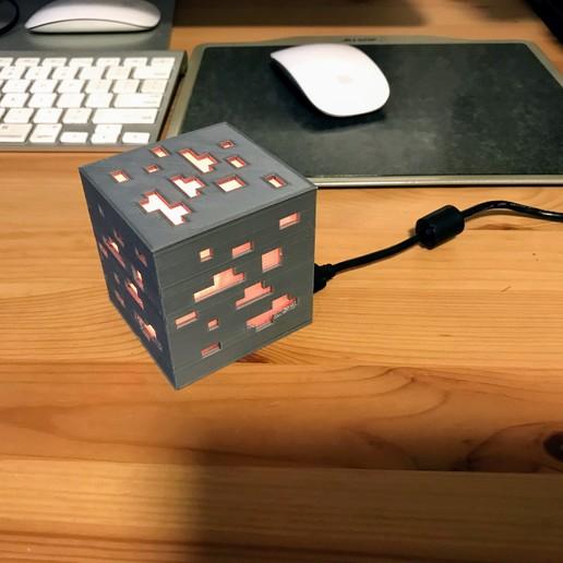IMG_0177.jpg Download free STL file Minecraft Ore Lamp for Arduino Nano • Template to 3D print, someonenotajeff