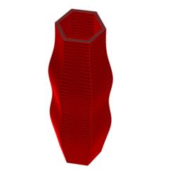 Impresiones 3D Jarrón 8-3, fiftikred