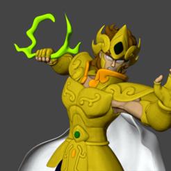 Download 3D printer files Saint Seiya - Aiolia Leo gold saint 3D print model, cosmou