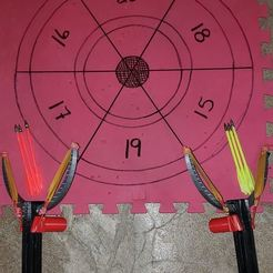 XBOW Target Setup.jpg Download STL file Pump Action Toy Crossbow • 3D printer design, dwellsy