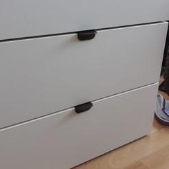 Télécharger STL gratuit Bouton de Tiroirs IKEA, capucineThr
