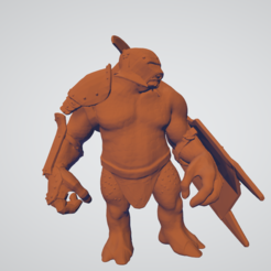 Unbenannt.PNG Download free OBJ file Armored Troll for Costum Weapons • 3D printing model, ihawmbudbhia