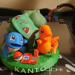 Download 3D printing designs Starter Pokemon Kanto, skynetporter