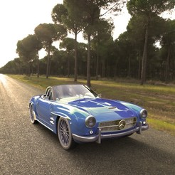 Download free STL mercedes benz 300 sl, emacoa