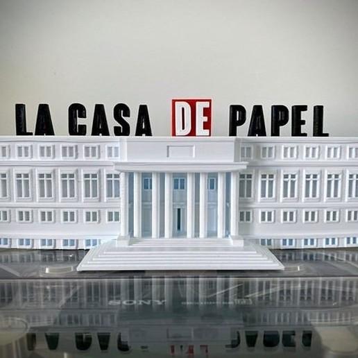 Download free 3D printing files Logo casa de papel, pepinou27