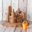 sandcastle-square.png Télécharger fichier OBJ gratuit Château de sable • Objet à imprimer en 3D, AlexT1
