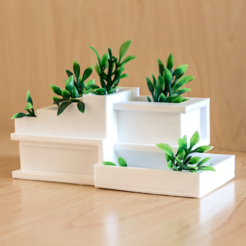 Free 3D print files Modern Architecture Planter, AlexT1