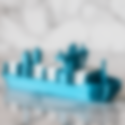 Download free 3D printer designs Container Ship, AlexT1