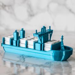 Télécharger fichier 3D gratuit Navire porte-conteneurs, AlexT1