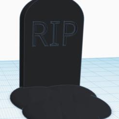 RIP.png Download OBJ file Gravestone • Template to 3D print, fglabutschnig