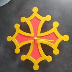IMG_20200320_094830.jpg Télécharger fichier STL Pendule croix occitane  • Plan pour impression 3D, danieliguillaume