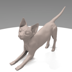 Screenshot_2.png Download STL file Sphynx Stretching • 3D printable template, RamonPaco