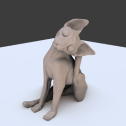 Screenshot_1.png Download STL file Sphynx Sitting • 3D print model, RamonPaco